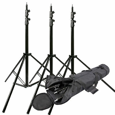 3×300cm 10ft Spring-Cushioned Light Stand 3 Section Studio Stand heavy duty