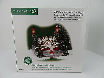 "Department 56 Snow Village ""HOLIDAY SINGERS"" Animated And Lighted W/Box"