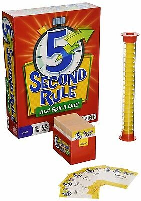 5 Second Rule - Just Spit it Out! Cards,Party Game & Porker