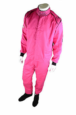 Pink Rjs Sfi 3-2A/5 2 Piece Adult Large Jacket & Pants Racing Fire Suit Pink