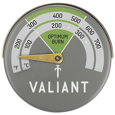 Valiant Magnetic Log Burner & Stove Thermometer Monitor Temperature Performance