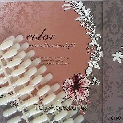 180 Nailtip Colour Chart Display Book With Tip For Uv/led Gel Polish Free P&p