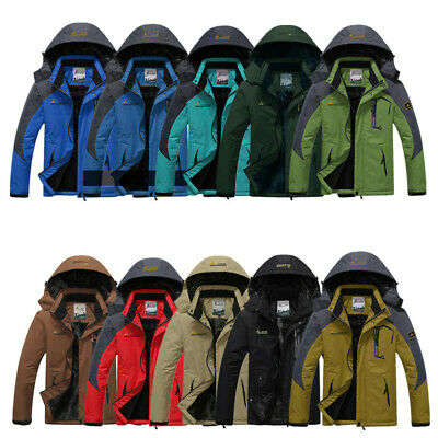 Outdoor Men New Waterproof Windproof Warm Shell Fleece Coat Ski Snowboard Jacket
