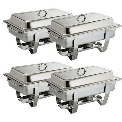Olympia Chafing Dish Set Milan 4er Pack Edelstahl CNS Gastro inkl. 4xGN 1/1