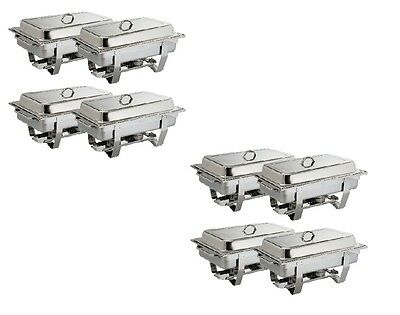 Olympia Chafing Dish Set Milan 8er Pack Edelstahl CNS Gastro inkl. 8xGN 1/1