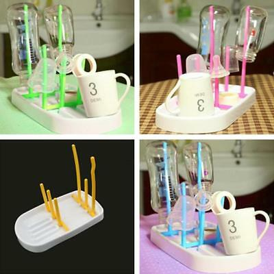 Portable Bottle Draining Rack Baby Feeding Drying Drain Folding Cup Glass New Z
