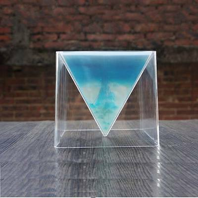 HOT Pyramid Silicone Mould DIY Resin Craft Jewelry Making Mold + Plastic Frame