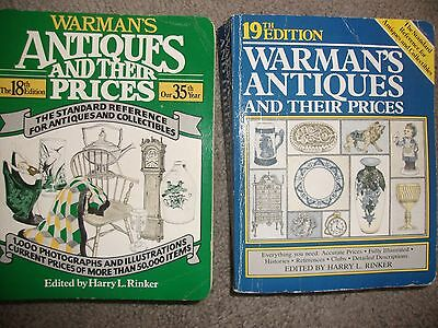 Warman's Antiques &their Prices 18Th &19Th Edition-1984-1985 2 Paperback Books