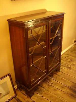 Cabinet , Bookcase. Mahogany. Antique , Reproduction