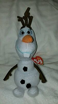 """Disney Frozen OLAF TY The Beanie Buddies Collection 8"""" Character Plush NWT"""