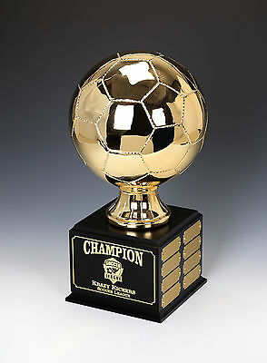 Soccer GOLD Chrome Perpetual Trophy LIFESIZE 16 Year Fantasy League & Teams