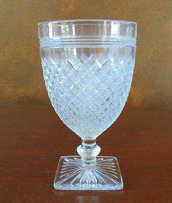 Anchor Hocking Miss America Clear Depression Water Goblet/Footed Tumbler(s)