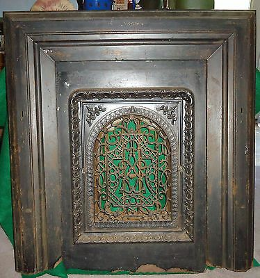 Antique Fireplace Insert,j.l.mott Ironworks,ny,iron,large,vented,ornate,complete