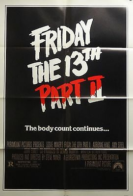 Friday The 13th Part 2 27x41 Advance One Sheet Movie Poster 1981 Original