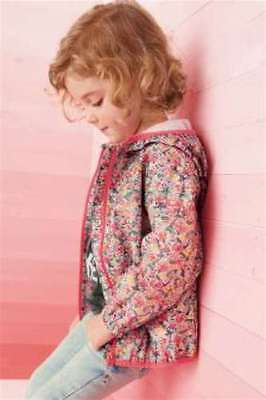 Next BNWT Girls Ditsy Floral Jacket Cagoule Coat 2-3 years shower resistant
