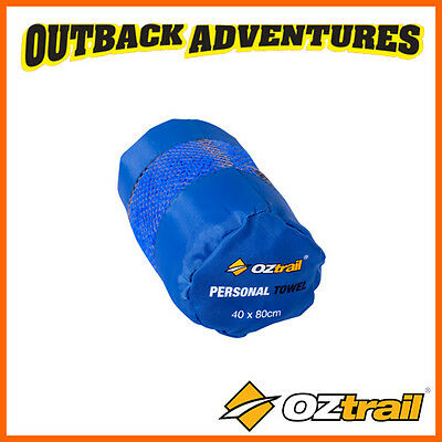 OZtrail PERSONAL TRAVEL TOWEL MICROFIBER RAPID ADSORPTION DRY LIGHT WEIGHT CAMP