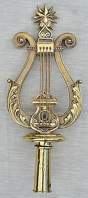 Antique Bronze Gilded German Lyre Processional Standard Finial for Music Parades