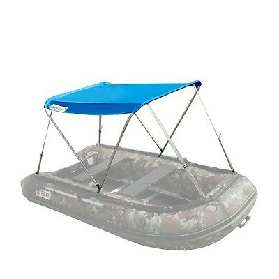 ALEKO Summer Canopy Boat Tent Sun Shelter Sunshade for Inflatable Boats Blue