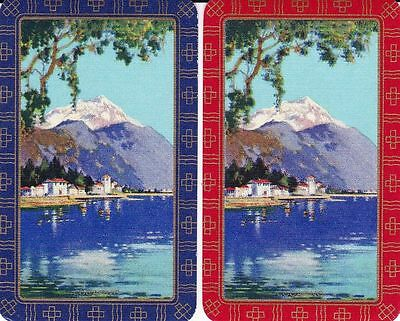 """D4 genuine VINTAGE swap playing cards ENN ENGLISH NAMED scene """"LOCARNO"""" mint"""