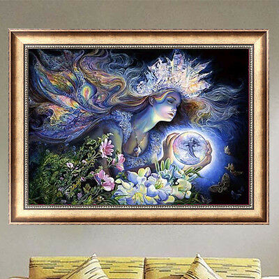 Beauty Fairy Embroidery 5D Diamond DIY Painting Cross Stitch Home Decor