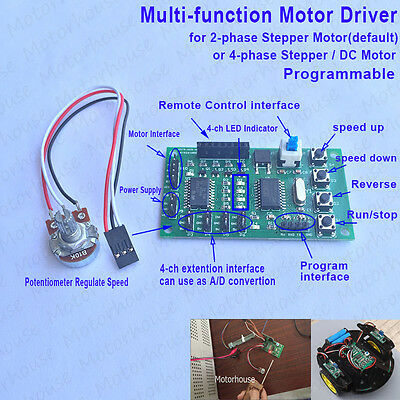 Multi-function Motor Driver 2/4 phase Stepper Motor Control Module Programmable