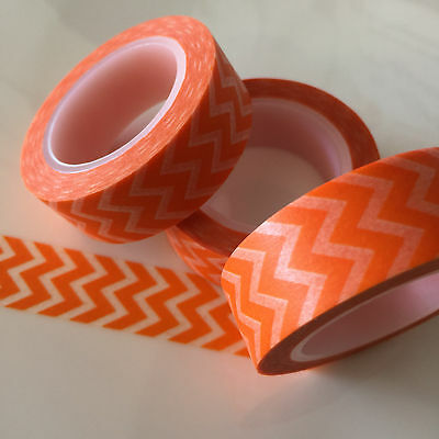 Washi Tape Orange Mountains 15Mm Wide X 10Mtr Roll Scrap Plan Craft Wrap