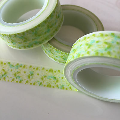 Washi Tape Lime Lacey Floral 15Mm Wide X 10Mtr Roll Scrap Plan Craft Wrap