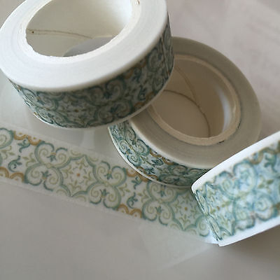 Washi Tape Muted Mosaic 15Mm Wide X 10Mtr Roll Scrap Plan Craft Wrap