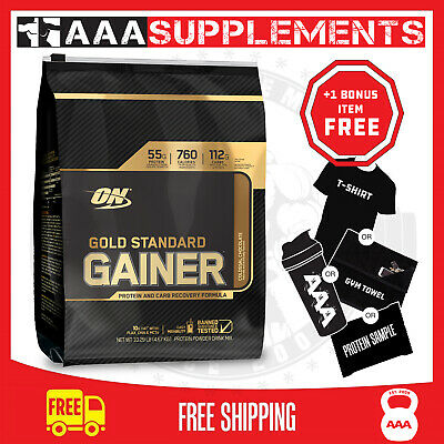 OPTIMUM NUTRITION GOLD STANDARD GAINER muscle building protein whey mass gainer