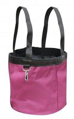 New PINK Showman Collapsible Grooming Tote Bucket w/ Carry Handles
