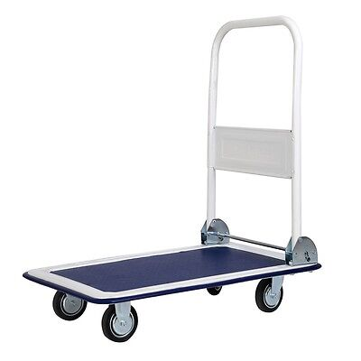 US 330lbs Durable Platform Cart Dolly Folding Moving Warehouse Push Hand Truck