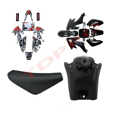 Plastics + Sticker Kit + Seat +Fuel Tank Honda CRF 50cc 90cc 125cc Dirt Pit Bike