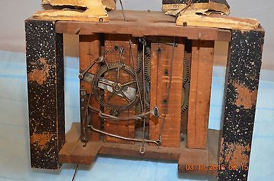 ANTIQUE CUCKOO WOODEN PLATES CLOCK MOVEMENT from Wall Cuckoo Clock for parts