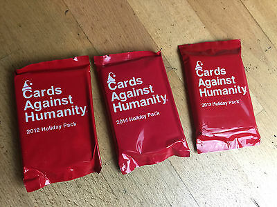 Cards Against Humanity - 2012 + 2013 + 2014 Holiday Expansion Packs
