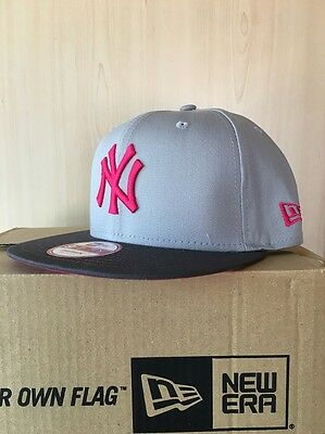 New York Yankees 9FIFTY Contrast Mens MLB Snapback Cap By New Era Grey Size S-M