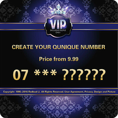 Choose Your Vip Gold Platinum Diamond Memorable Unique Phone Number Sim Card