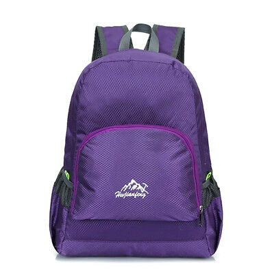 20L Lightweight Sport Foldable Travel Backpack Hiking Camping Daypack Purple