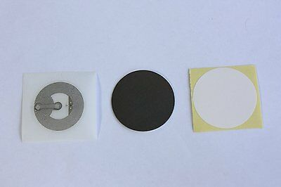 20 NFC Tags NTAG213 Chip Clear Stickers + 10 White Labels + 10 Anti metal layers