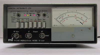 Marconi TF 2304 FM & AM Modulation Meter