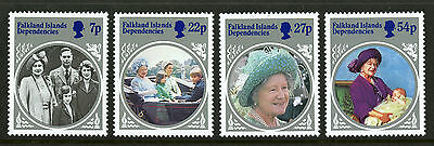 Falkland Islands Dependencies  1985  Scott #1L92-1L95  Mint Never Hinged Set