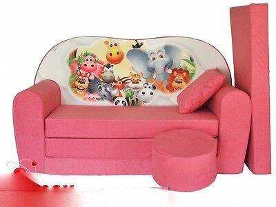 New Kids Sofa Animals Bed Childs Furniture Cotton Cover Free Footstool Cushion