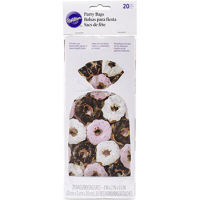 "Party Bags 4""X9.5"" 20/Pkg Photoreal Donuts W29921"