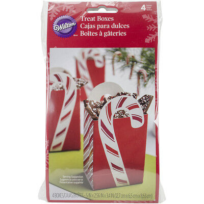 Handled Treat Bags 4/Pkg Peppermint W3303