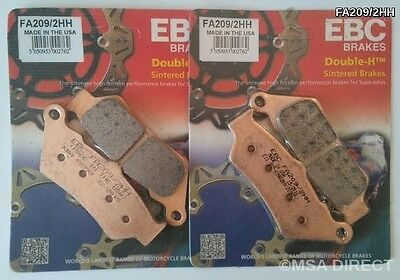 BMW F800GS (2008 to 2018) EBC Double-H Sintered FRONT Brake Pads (FA209/2HH x 2)