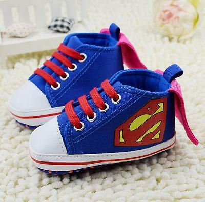 Baby Shoes Newborn Infant Superman Booties Soft Trainers Christmas Toddler Boys