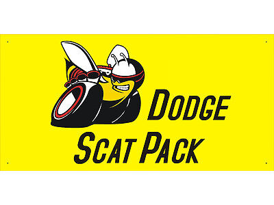 Dodge Scat Pack Car Auto Parts Club Shop Display Advertising Banner