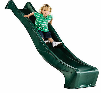 Garden Games 8ft Deluxe Childrens Wavy Slide for a 4ft Deck with Water Spray