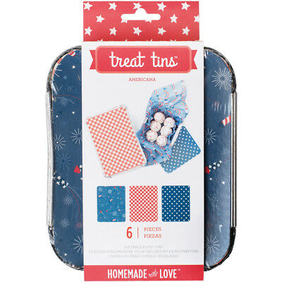"Small Americana Treat Tins 3/Pkg 4.75""X6""X2"" 374242"
