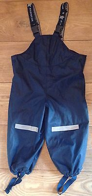 TCM ' Rainstar' Children's Waterproof Dungarees/ Trousers 86/92cm (1-2 Years)
