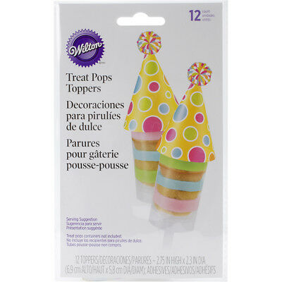 Treat Pops Toppers 12/Pkg Birthday Hat W0266